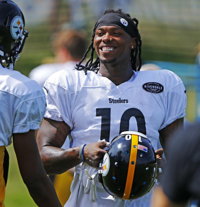 Happy to be back: The NFL reinstated Steelers WR Martavis Bryant on Friday. (AP)