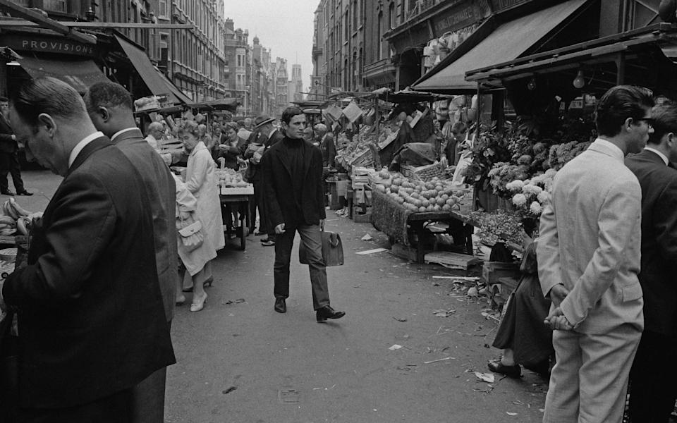 Fruit and vegetables on sale at Berwick Street Market in Soho, London, April 1961. (Photo by Archive Photos/Getty Images)  - Getty