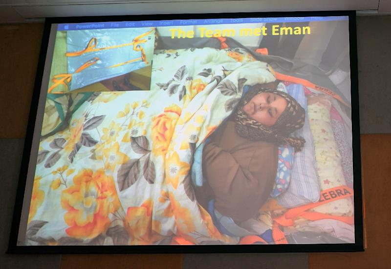 Abd El Aty had not left her home in Egypt's Mediterranean port city of Alexandria for two decades until she arrived in India on February 11 for weight-loss surgery (AFP Photo/INDRANIL MUKHERJEE)
