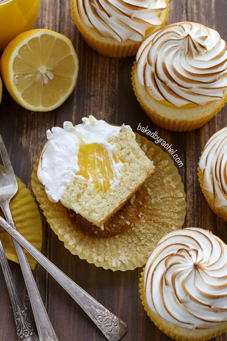"""<p>Here's proof that you can have your pie and eat it too—in cupcake form. </p><p>Get the full recipe from <a href=""""https://www.bakedbyrachel.com/lemon-meringue-cupcakes/"""" rel=""""nofollow noopener"""" target=""""_blank"""" data-ylk=""""slk:Baked By Rachel"""" class=""""link rapid-noclick-resp"""">Baked By Rachel</a>.</p><p><strong>What you'll need: </strong>Kitchen torch ($35, <a href=""""https://www.amazon.com/gp/product/B000G9OYX4/ref=as_li_tl?tag=syn-yahoo-20&ascsubtag=%5Bartid%7C10057.g.18197145%5Bsrc%7Cyahoo-us"""" rel=""""nofollow noopener"""" target=""""_blank"""" data-ylk=""""slk:amazon.com"""" class=""""link rapid-noclick-resp"""">amazon.com</a>)</p>"""