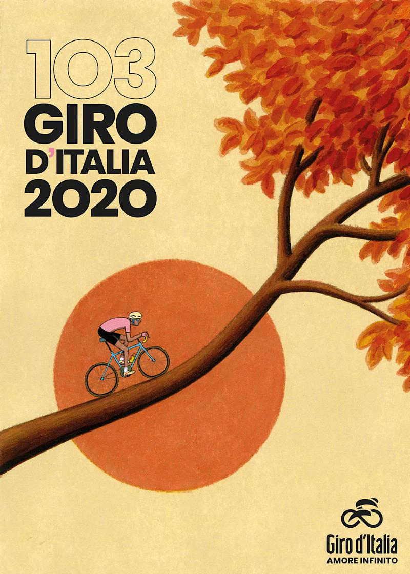 The official poster of the 2020 GIro d'Italia