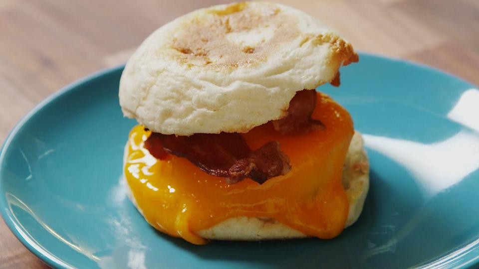 "<p>You'll never have to settle for a mediocre breakfast sandwich again!</p><p>Get the recipe from <a href=""/cooking/recipe-ideas/recipes/a47238/make-ahead-bacon-egg-sandwiches-recipe/"" data-ylk=""slk:Delish"" class=""link rapid-noclick-resp"">Delish</a>.</p>"