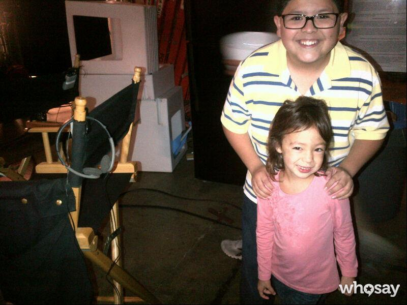 """Sofia also added <a href=""""http://www.whosay.com/sofiavergara/photos/208911"""">this pic of Rodriguez</a> and 5-year-old Aubrey Anderson-Emmons, who plays Mitch and Cam's daughter Lily, writing: """"Everyone is readyyyyy."""" Can't you just hear her saying that in her Gloria voice?"""