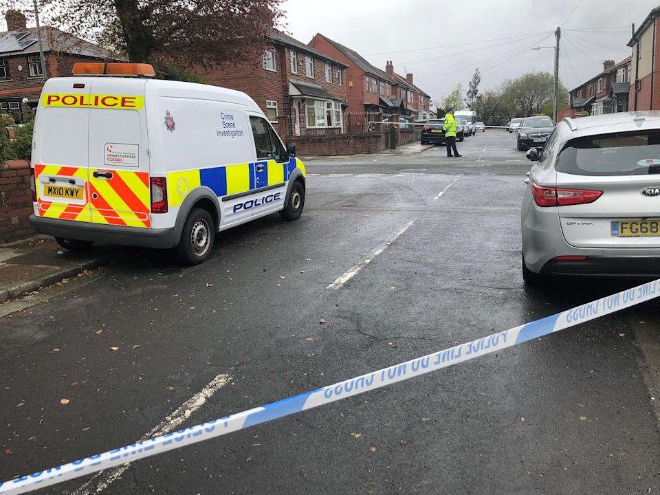 <strong>A police cordon in place at Walker Avenue in Bolton where a 15-year-old boy was stabbed several times.</strong> (Photo: Kim PillingPA)
