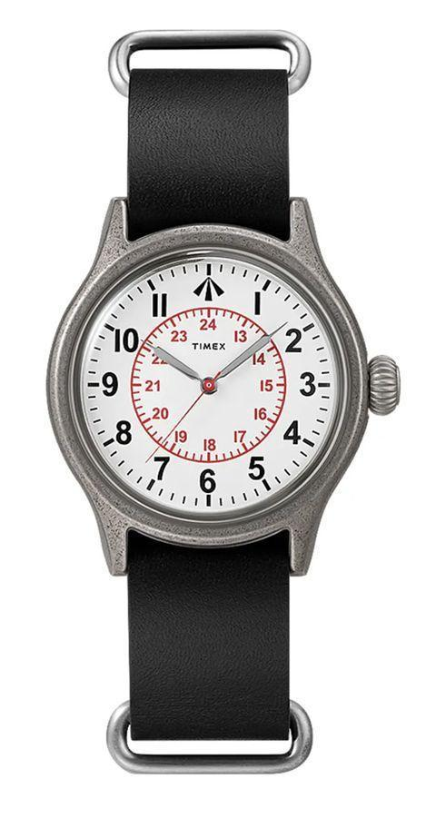 """<p>Cult menswear designer Nigel Cabourn knows his military vintage. His ongoing collab with Timex had already produced the Nam, a take on the former's MK1 army-issue watch, the Timex x Nigel Cabourn Survival Watch in hi-vis yellow and a tribute to Scunthorpe United (Cabourn grew up there). They are all great, but the most recent joint project, the Navel Officers Watch, which takes its cue from the watches worn during the Arctic convoys of World War 2, is the best. And for £159 an actual steal. </p><p>£159; <a href=""""https://www.timex.co.uk/"""" rel=""""nofollow noopener"""" target=""""_blank"""" data-ylk=""""slk:timex.co.uk"""" class=""""link rapid-noclick-resp"""">timex.co.uk</a></p>"""
