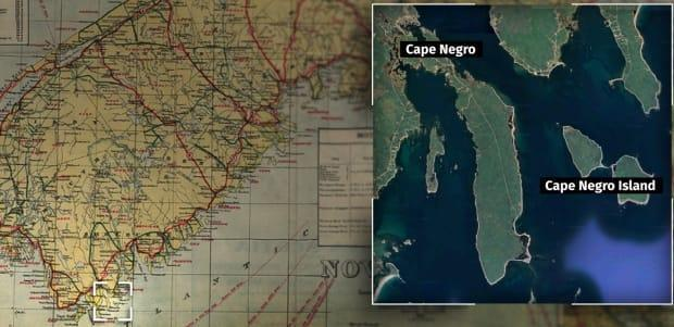 The Municipality of Barrington is home to communities such as Cape Negro and Cape Negro Island. (Nova Scotia Archives/Google Maps/CBC - image credit)