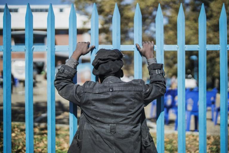 The lockdown and its impact on the poorest is at breaking point (AFP Photo/MARCO LONGARI)