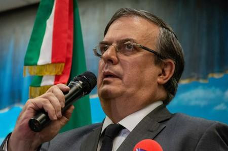 Mexico's Foreign Minister Marcelo Ebrard speaks at the Mexican consulate, two days after a mass shooting in El Paso