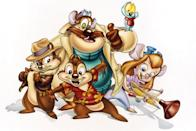 <p>To pull off the girl chipmunk, Gadget, from <b>Chip 'n Dale Rescue Rangers</b>, you'll need a light purple top and bottoms, goggles, a blond wig, and some face paint.</p>