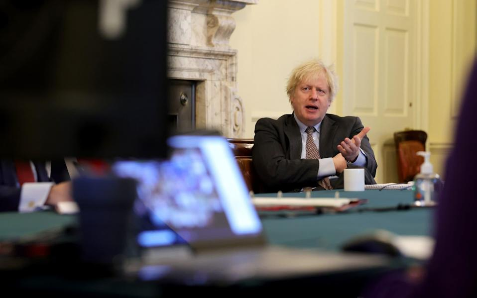 Boris Johnson chairs the weekly cabinet meeting - Pippa Fowles