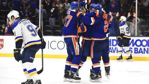 Blues 'took our foot off the gas' and gave away game to Islanders