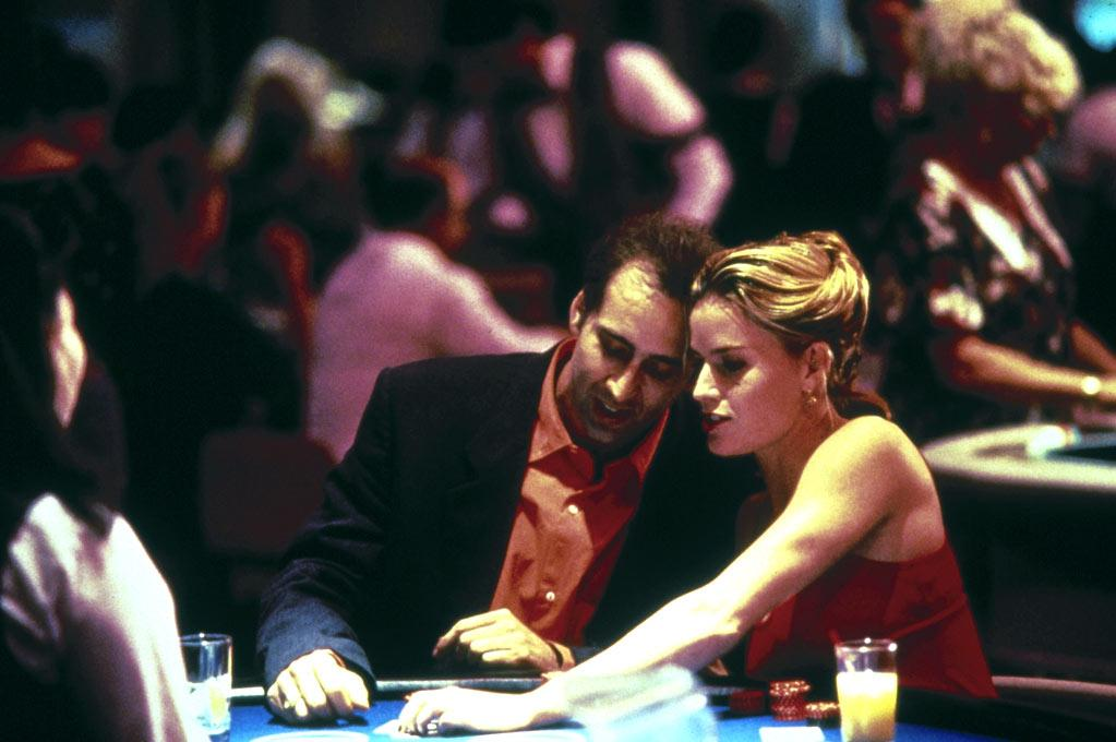 """<a href=""""http://movies.yahoo.com/movie/1800249977/info"""">Leaving Las Vegas</a> (1995): Cage won a best-actor Oscar for playing an alcoholic, failed screenwriter hell-bent on drinking himself to death. He and Elisabeth Shue, excellent as a hardened prostitute, forge a twisted, codependent bond in which neither will interfere with the others self-destruction. But Cage never devolves into a drunk cliche; rather, he finds shadings within this lost soul's deep despair. Director Mike Figgis' film is intense and unflinching, which just happen to be two of Cage's strong suits. While the movie itself is often hard to watch, Cage's performance is mesmerizing."""