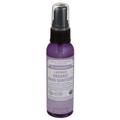 """<h3>Dr. Bronner's Organic Hand Sanitizer</h3> <br>From the makers of your favorite<a href=""""https://www.drbronner.com/DBMS/category/LIQUIDSOAP.html"""" rel=""""nofollow noopener"""" target=""""_blank"""" data-ylk=""""slk:gentle face soap"""" class=""""link rapid-noclick-resp""""> gentle face soap</a> comes a hand sanitizer spray that you can throw in your purse for less than five bucks. It smells like lavender and dries quickly, which makes it great for on-the-go spritzing.<br><br><strong>Dr. Bronner's</strong> Organic Hand Sanitizer - Lavender (2 Fluid Ounces), $, available at <a href=""""https://www.vitaminshoppe.com/p/hand-sanitizing-spray-lavender-2-fl-oz/dr-1061"""" rel=""""nofollow noopener"""" target=""""_blank"""" data-ylk=""""slk:The Vitamin Shoppe"""" class=""""link rapid-noclick-resp"""">The Vitamin Shoppe</a><br>"""