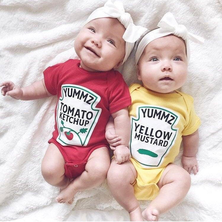 <p>No hot dog is complete without both <span>ketchup and mustard</span> ($34)! It's an out-of-the-box twin costume that will surely star in your next scrapbook. </p>