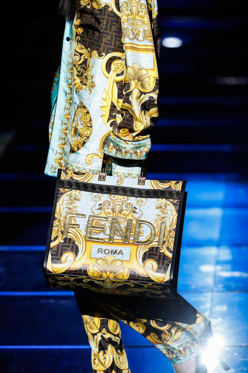 A detail at the Versace X Fendi Collaboration Pre-Fall 2022.