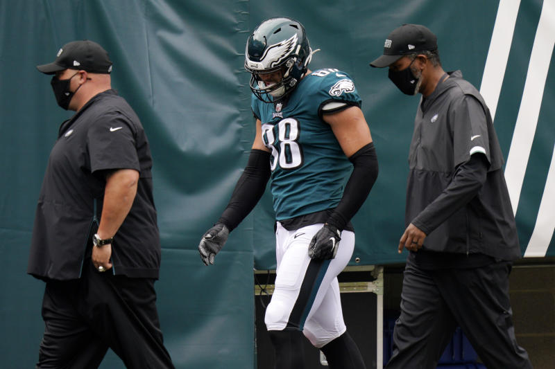 Philadelphia Eagles TE Dallas Goedert to miss some time with ankle injury suffered vs. Bengals