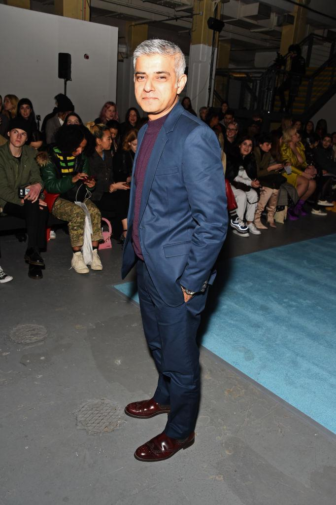 <p>Yes, the Mayor of London, Sadiq Khan, popped by to check out the sartorial offerings over at Ashley Williams this season. <em>[Photo: Getty]</em> </p>