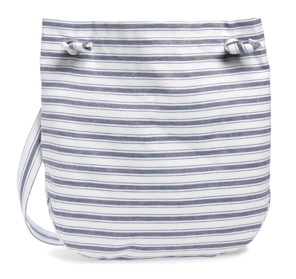 Junya Watanabe Stripe Linen and Cotton Bag