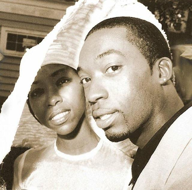 Anthony and Dajuana Mayers on their wedding day 20 years ago. (Photo: Courtesy Mecca Mayers)