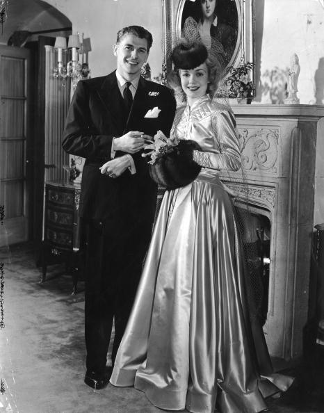 <p>Ronald Reagan and his first wife, actress Jane Wyman, married two years after working together on the film <em>Brother Rat</em> in 1938. On January 25, 1940, they married in Glendale, California. They divorced in 1949, allegedly due to political ambitions and differences.</p>