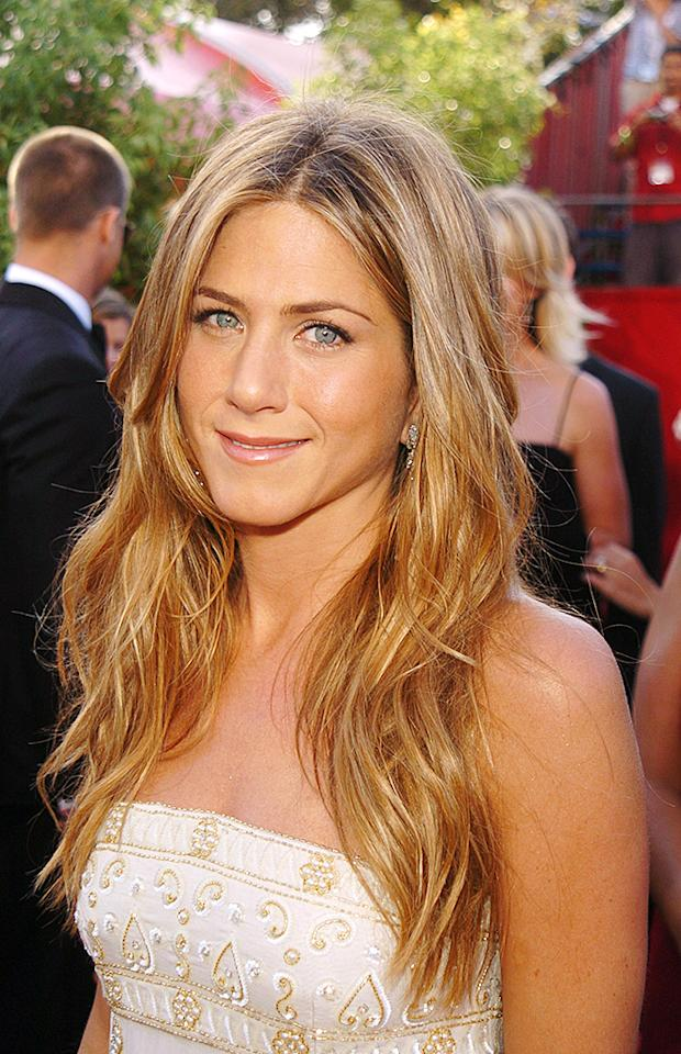 Jennifer Aniston at the The Shrine Auditorium in Los Angeles, California (Photo by George Pimentel/WireImage)