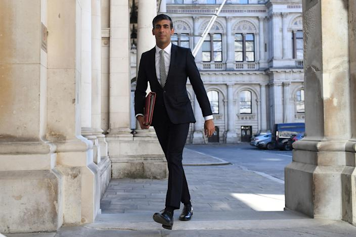 Britain's chancellor of the exchequer Rishi Sunak earlier this summer, as he announced an extension to business loan schemes and a replacement to the furlough scheme. Photo: Daniel Leal-Olivas/WPA/Getty Images
