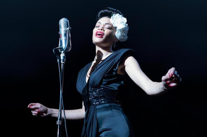 **FOR ENVELOPE FASHION STORY RUNNING 2/2021*****Andra Day stars in THE UNITED STATES VS. BILLIE HOLIDAY from Paramount Pictures. Photo Credit: Takashi Seida.