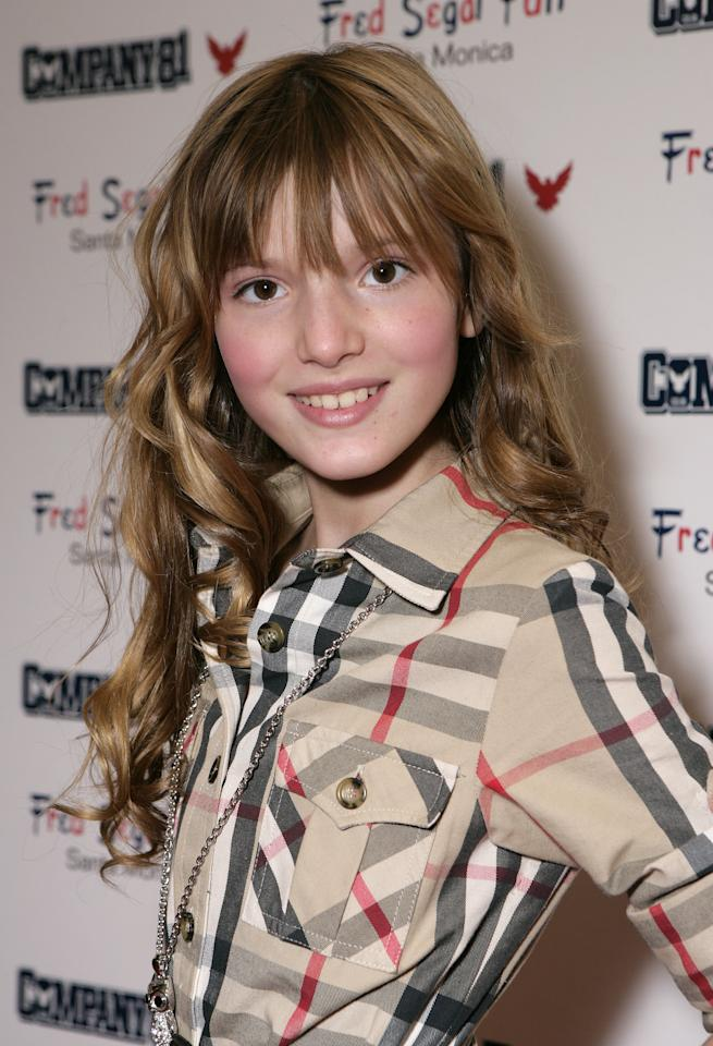 Here's Bella at aCompany 81 launch party in L.A. when she was just 11 years old.