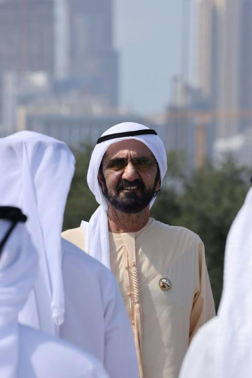 Dubai ruler Sheikh Mohammed authorised the use of spyware software to hack Princess Haya's phone, the High Court in London ruled (AFP/Giuseppe CACACE)