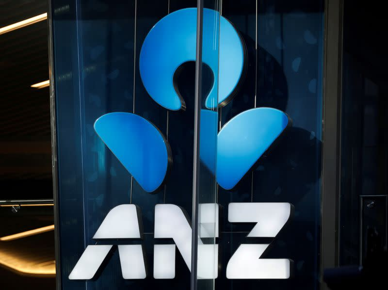 FILE PHOTO: An ANZ bank logo is pictured in Sydney