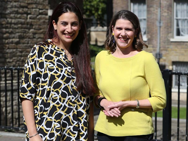 Luciana Berger (left) says she joined Jo Swinson's party because it is 'the strongest to stop Brexit': PA