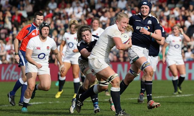 """<span class=""""element-image__caption"""">England Women have failed to score four tries in a game only once during their 2017 campaign. </span> <span class=""""element-image__credit"""">Photograph: Christopher Lee/Getty Images for Harlequins</span>"""