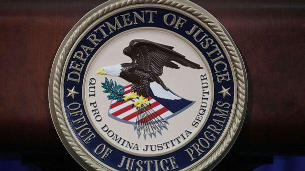 PHOTO: The Justice Department seal is seen on the lectern during a Hate Crimes Subcommittee summit on June 29, 2017 in Washington, DC. (Mark Wilson/Getty Images)