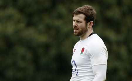 England's Elliot Daly during training
