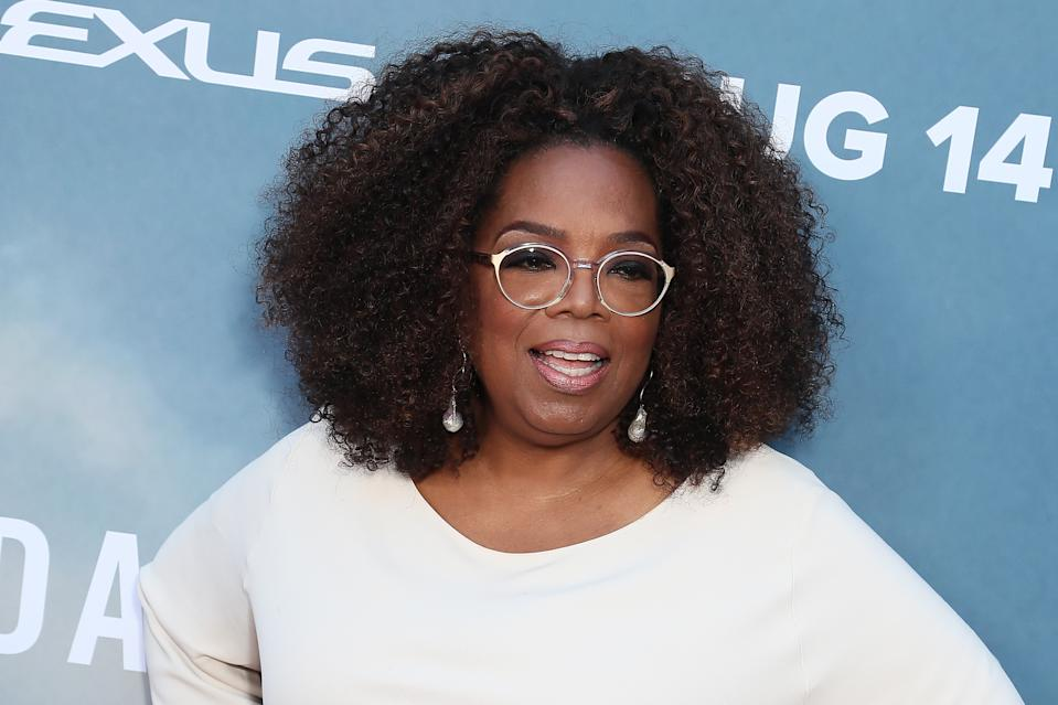 """LOS ANGELES, CALIFORNIA - AUGUST 06: Oprah Winfrey attends the Premiere Of OWN's """"David Makes Man"""" at NeueHouse Hollywood on August 06, 2019 in Los Angeles, California. (Photo by Leon Bennett/FilmMagic,)"""