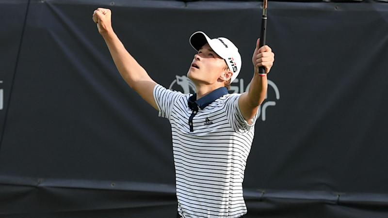 Teenager Hojgaard wins tense playoff to take Mauritius Open title