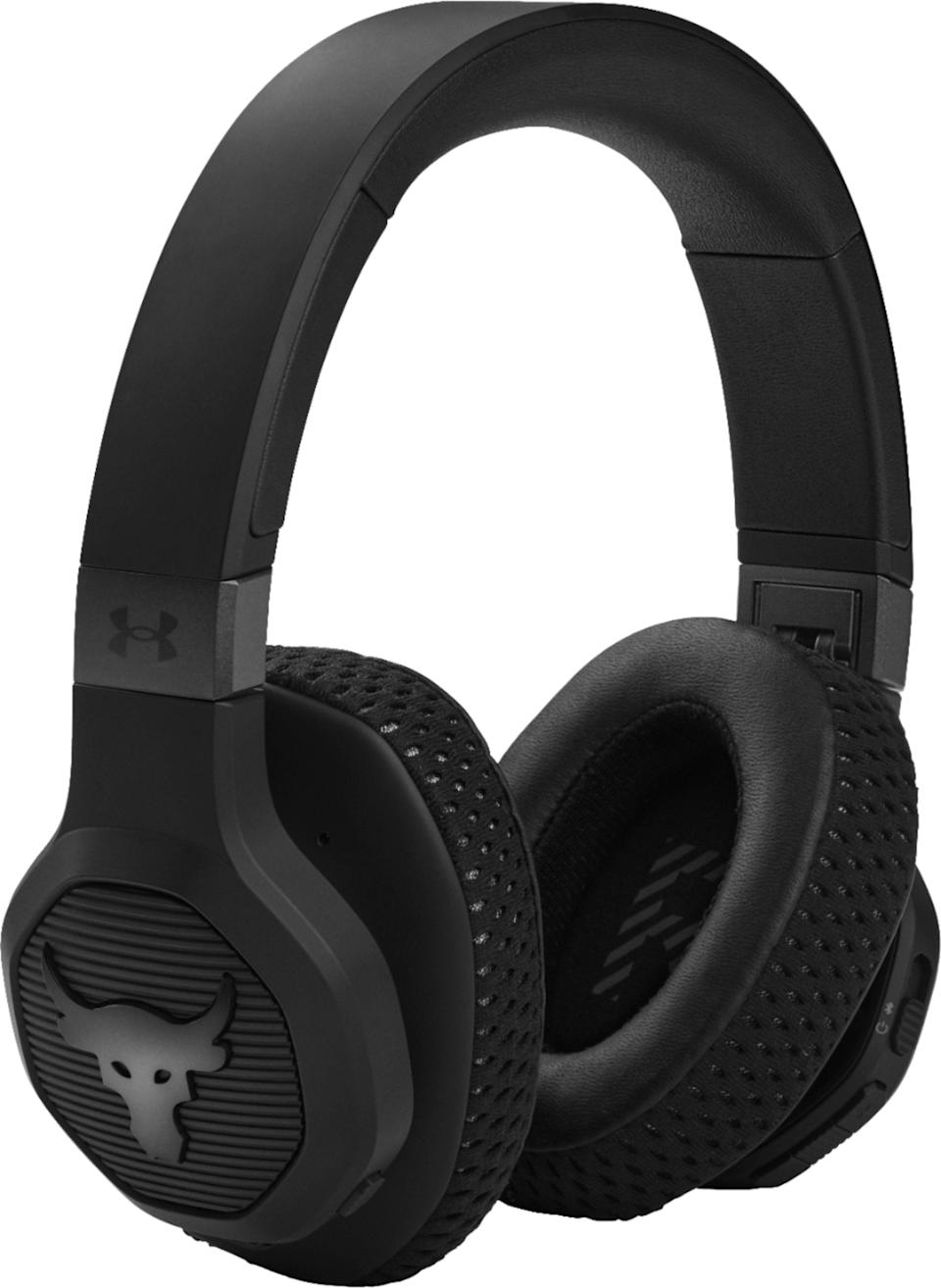 """<p><strong>JBL</strong></p><p>bestbuy.com</p><p><strong>$299.99</strong></p><p><a href=""""https://go.redirectingat.com?id=74968X1596630&url=https%3A%2F%2Fwww.bestbuy.com%2Fsite%2Fjbl-under-armour-project-rock-wireless-over-the-ear-headphones-black%2F6471429.p%3FskuId%3D6471429&sref=https%3A%2F%2Fwww.womenshealthmag.com%2Flife%2Fg33902097%2Fgifts-for-teen-boys%2F"""" rel=""""nofollow noopener"""" target=""""_blank"""" data-ylk=""""slk:Shop Now"""" class=""""link rapid-noclick-resp"""">Shop Now</a></p><p>Finely tuned by Dwayne 'The Rock"""" Johnson as part of his Project Rock line with Under Armor, these training headphones are designed to allow your teen to focus on his workout.</p>"""