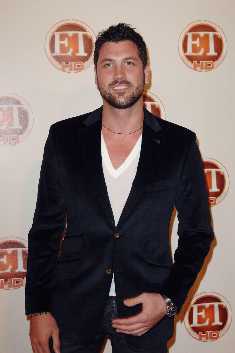 """<p>Maksim is known for being the """"bad boy of the ballroom,"""" but in season 13 the dancer took things too far. While getting criticism from the judges, Maks became visibly aggravated, eventually yelling that Len Goodman should retire. (Len's still there in season 28, btw.)</p>"""