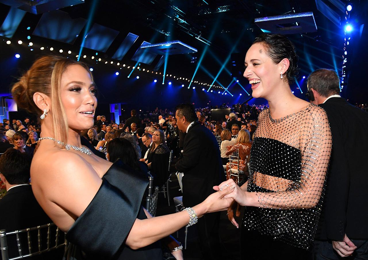 """Jennifer Lopez and Phoebe Waller-Bridge holding hands feels like it should generate enough creative energy to power an entire country — or <a href=""""https://people.com/music/jennifer-lopez-excited-super-bowl-halftime-show-bring-everybody-together/"""">at least the Super Bowl halftime show</a>."""