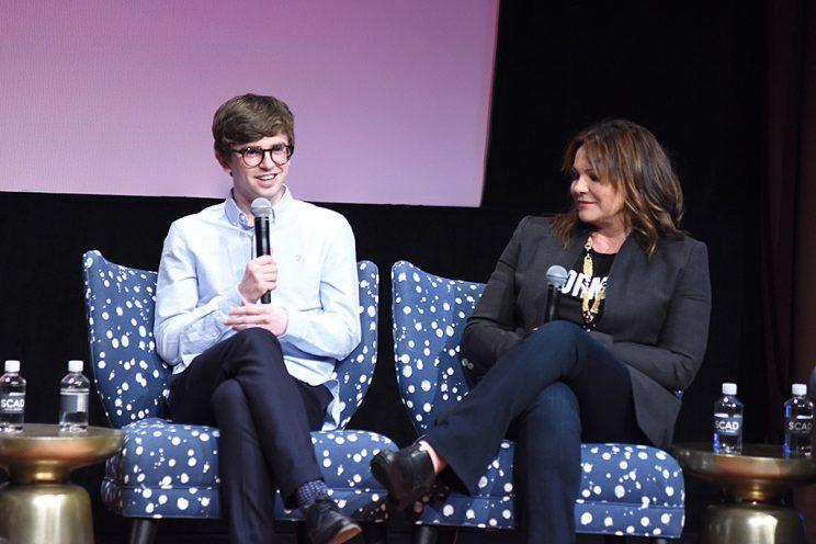 Actor and Writer Freddie Highmore and Executive Producer Kerry Ehrin speak at the