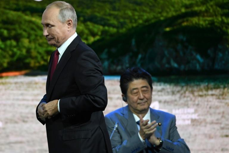 Putin and Abe met at the Eastern Economic Forum in Vladivostok