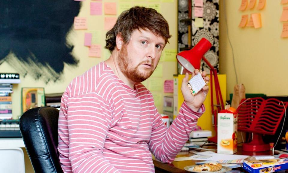 Tim Key photographed in his office at home for the Guardian arts interview, July 2015 in Kentish Town
