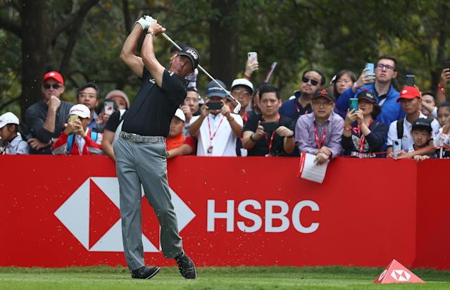 Phil Mickelson in action at the HSBC-WGC in Shanghai. (Getty)