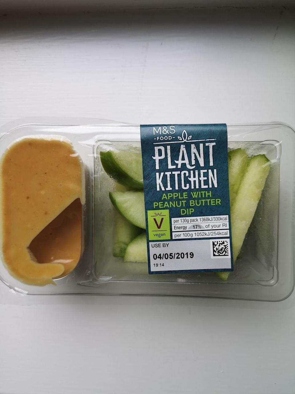 """<p><strong>Price: </strong>£1.50</p><p><strong>Why?</strong> 'You can't go wrong with sliced apple and peanut butter, and this perfectly portioned package is great for a picnic. Combining carbohydrates with a source of protein and healthy fats helps to slow down the release of sugars into your blood stream meaning you'll feel fuller for longer.'</p><p><a class=""""link rapid-noclick-resp"""" href=""""https://go.redirectingat.com?id=127X1599956&url=https%3A%2F%2Fwww.marksandspencer.com%2Fl%2Ffood-to-order%2Fpicnic-food-ideas&sref=https%3A%2F%2Fwww.redonline.co.uk%2Ffood%2Fg32685467%2Fhealthy-picnic-foods-m-and-s%2F"""" rel=""""nofollow noopener"""" target=""""_blank"""" data-ylk=""""slk:SHOP NOW"""">SHOP NOW</a></p>"""