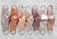<p>These <span>Satin Nude Tapered Cut Face Mask</span> ($26, originally $35) are so chic and comfortable.</p>