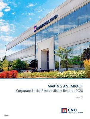 2020 CNO Financial Group Corporate Social Responsibility Report Cover