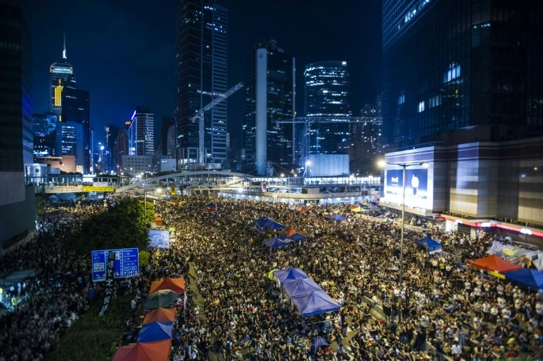 Hong Kong has seen a series of pro-democracy rallies in recent years, including the the 2014 mass Umbrella Movement protests