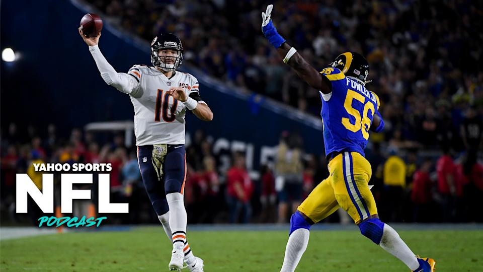 Is the Bears' loss to the Rams on Sunday night the final straw for Mitchell Trubisky in Chicago? (Photo by Kevork Djansezian/Getty Images)