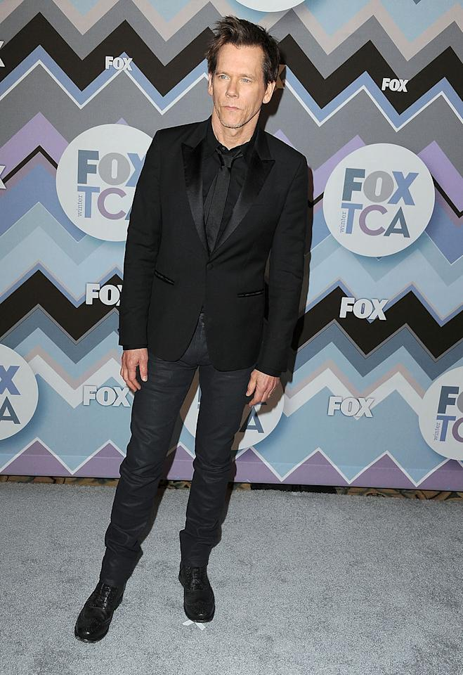 Kevin Bacon arrives at the 2013 TCA Winter Press Tour - FOX All-Star Party at The Langham Huntington Hotel and Spa on January 8, 2013 in Pasadena, California.