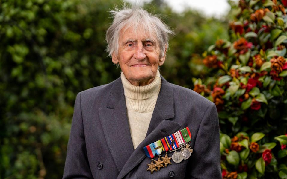 Lt Jim Booth photographed at home - Andrew Crawley